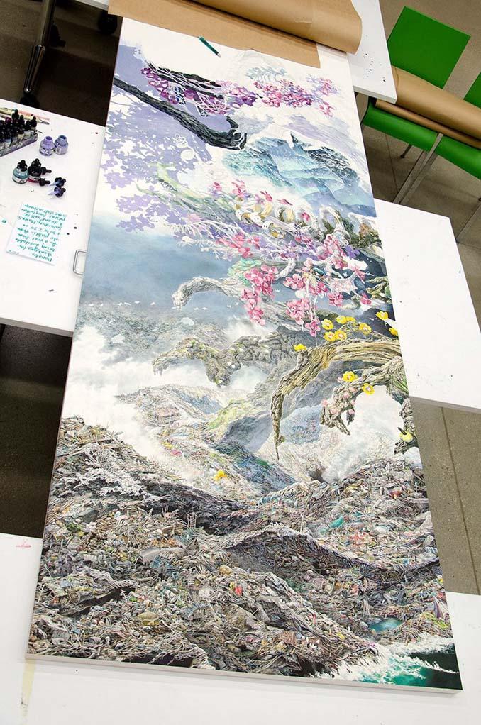 Ιάπωνας καλλιτέχνης χρειάστηκε 3,5 χρόνια για να ολοκληρώσει αυτό το έργο τέχνης (9)
