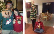 12 κωμικοτραγικά χριστουγεννιάτικα πουλόβερ για ζευγάρια