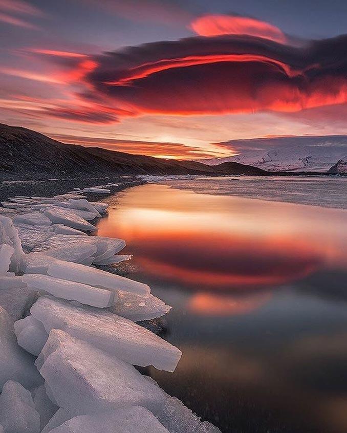 Επικό ηλιοβασίλεμα στην Ισλανδία | Φωτογραφία της ημέρας