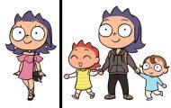 Πριν και μετά τα παιδιά - Διασκεδαστικά σκίτσα