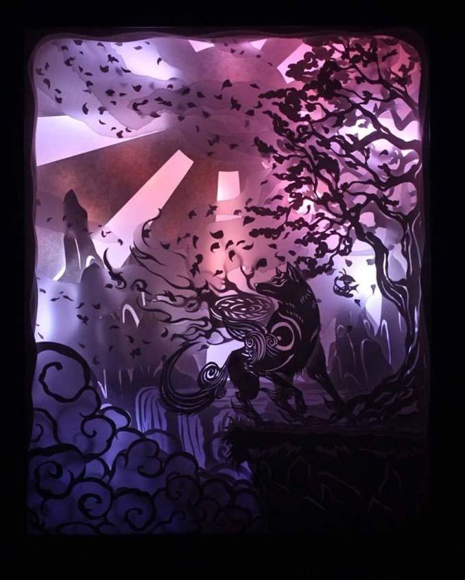 Καλλιτέχνης απαθανατίζει σκηνές βγαλμένες από όνειρα χρησιμοποιώντας μόνο χαρτί και φωτισμό (2)