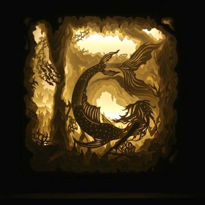 Καλλιτέχνης απαθανατίζει σκηνές βγαλμένες από όνειρα χρησιμοποιώντας μόνο χαρτί και φωτισμό (15)