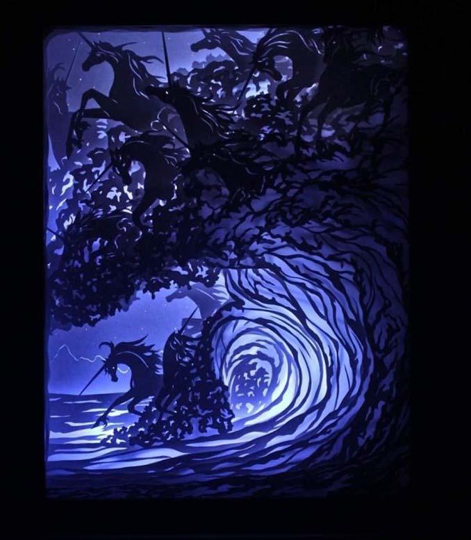 Καλλιτέχνης απαθανατίζει σκηνές βγαλμένες από όνειρα χρησιμοποιώντας μόνο χαρτί και φωτισμό (20)
