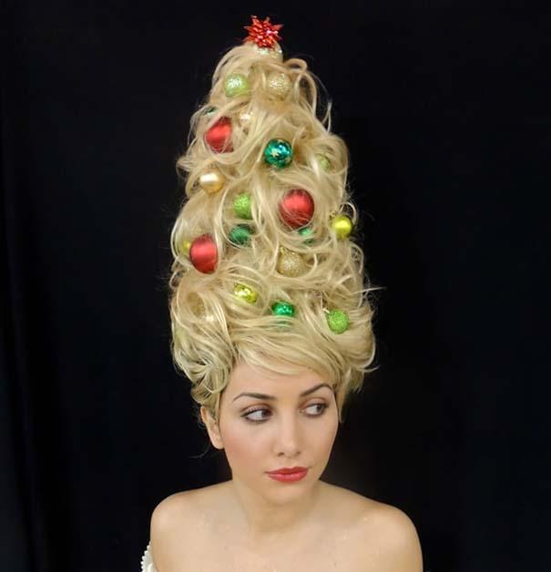 Χτενίσματα για ανεπανάληπτες χριστουγεννιάτικες εμφανίσεις (10)