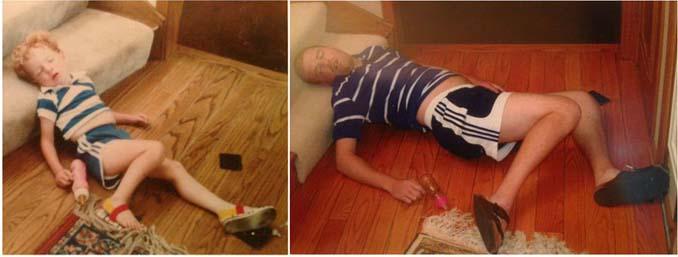 Αδέρφια κάνουν αναπαράσταση των λιπόθυμων παιδικών φωτογραφιών τους (2)