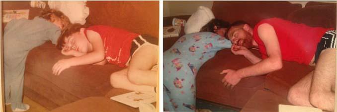 Αδέρφια κάνουν αναπαράσταση των λιπόθυμων παιδικών φωτογραφιών τους (9)