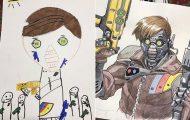 Μετατρέπει τις ζωγραφιές του γιου του σε απίθανους χαρακτήρες manga (9)