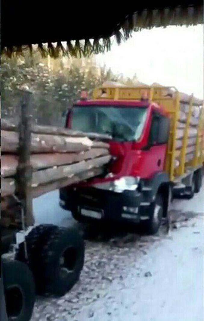 Οδηγός φορτηγού γλίτωσε από σκηνικό που θυμίζει την ταινία Final Destination (4)