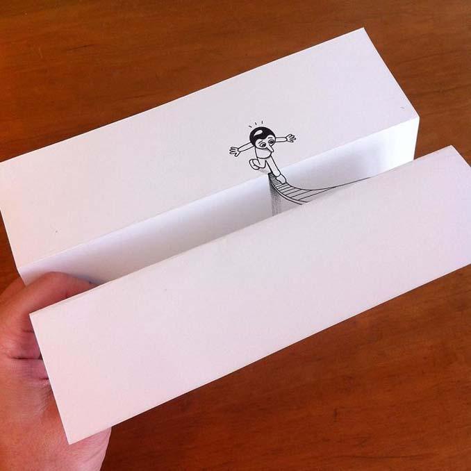 Σκιτσογράφος ζωντανεύει τα σκίτσα του χρησιμοποιώντας έξυπνα 3D τρικ (10)