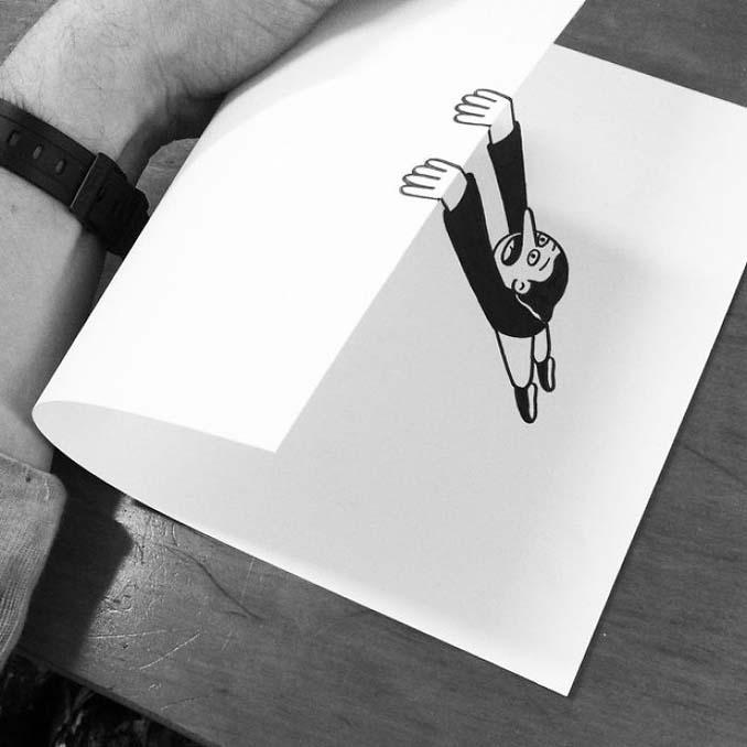 Σκιτσογράφος ζωντανεύει τα σκίτσα του χρησιμοποιώντας έξυπνα 3D τρικ (11)