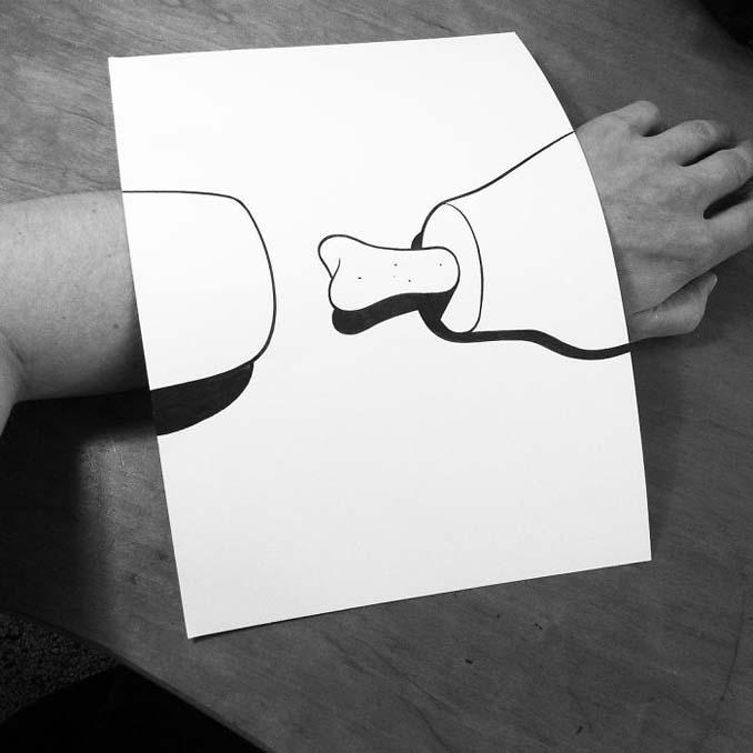 Σκιτσογράφος ζωντανεύει τα σκίτσα του χρησιμοποιώντας έξυπνα 3D τρικ (12)