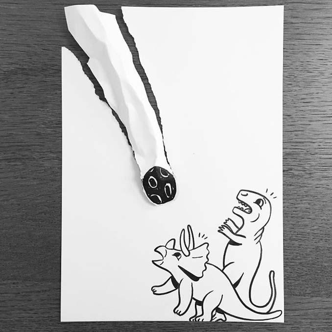 Σκιτσογράφος ζωντανεύει τα σκίτσα του χρησιμοποιώντας έξυπνα 3D τρικ (14)