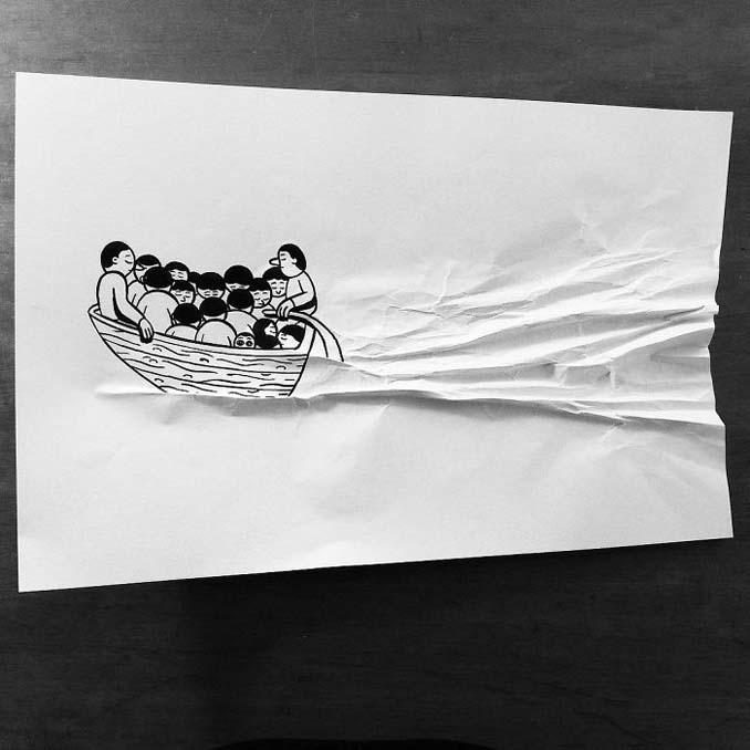 Σκιτσογράφος ζωντανεύει τα σκίτσα του χρησιμοποιώντας έξυπνα 3D τρικ (15)