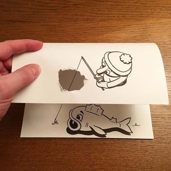 Σκιτσογράφος ζωντανεύει τα σκίτσα του χρησιμοποιώντας έξυπνα 3D τρικ (17)