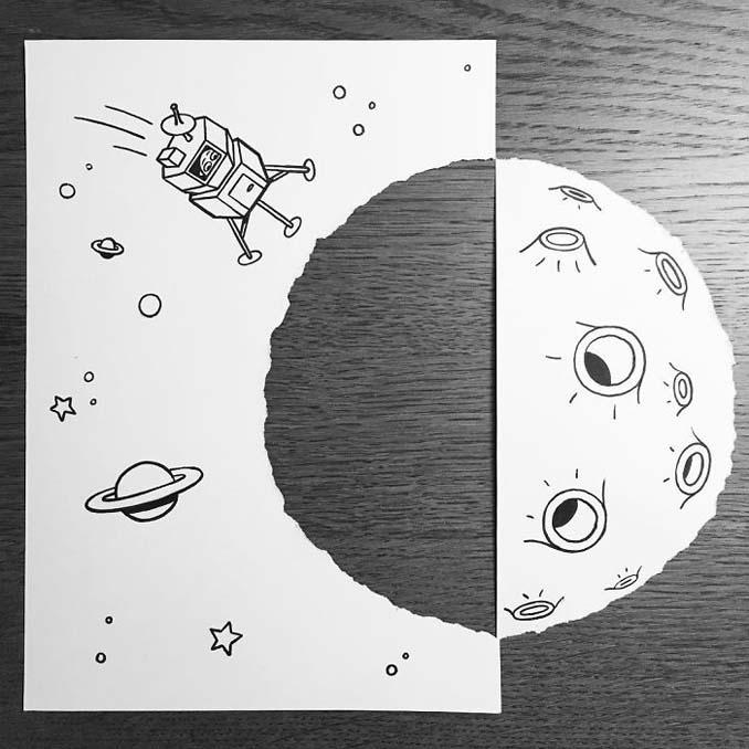 Σκιτσογράφος ζωντανεύει τα σκίτσα του χρησιμοποιώντας έξυπνα 3D τρικ (18)