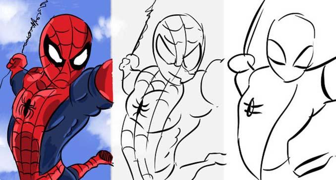 Speed Drawing: Κάνοντας την ίδια ζωγραφιά σε 10 λεπτά, σε 1 λεπτό και σε 10 δευτερόλεπτα (1)