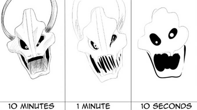 Speed Drawing: Κάνοντας την ίδια ζωγραφιά σε 10 λεπτά, σε 1 λεπτό και σε 10 δευτερόλεπτα (2)