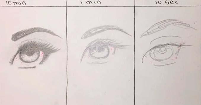 Speed Drawing: Κάνοντας την ίδια ζωγραφιά σε 10 λεπτά, σε 1 λεπτό και σε 10 δευτερόλεπτα (3)
