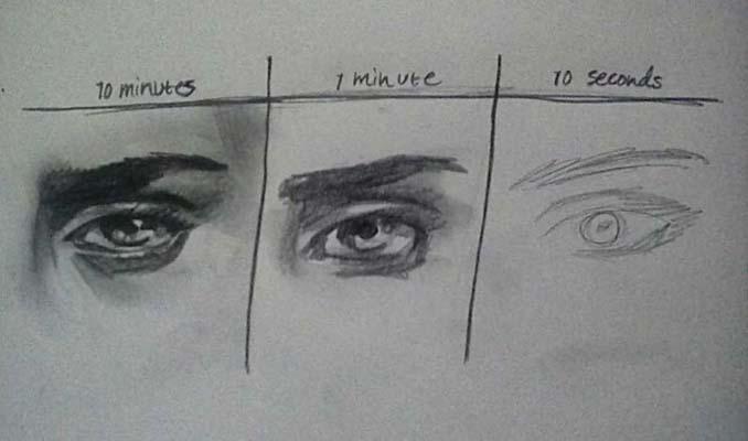 Speed Drawing: Κάνοντας την ίδια ζωγραφιά σε 10 λεπτά, σε 1 λεπτό και σε 10 δευτερόλεπτα (14)