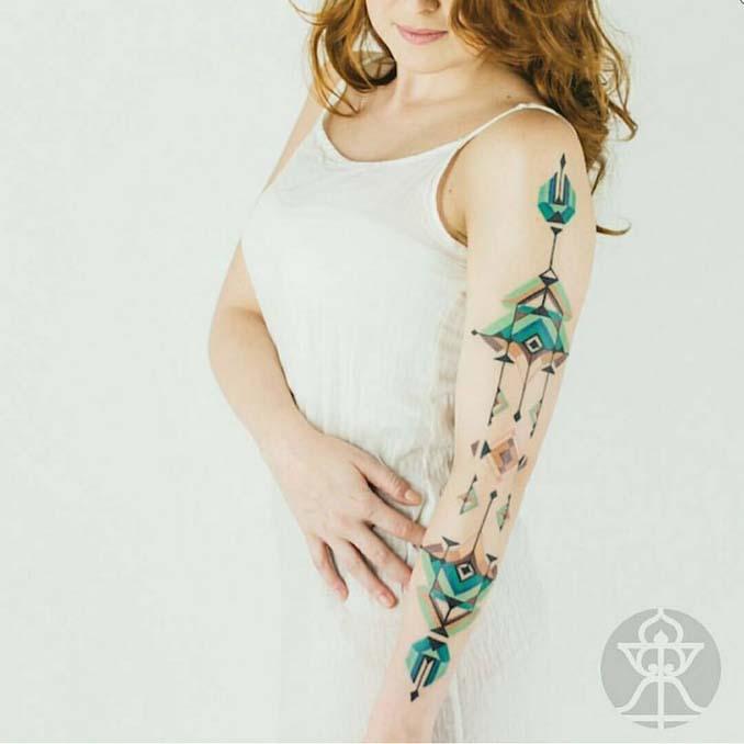 Τατουάζ εμπνευσμένα από την τέχνη των φυλών του Αμαζονίου (4)