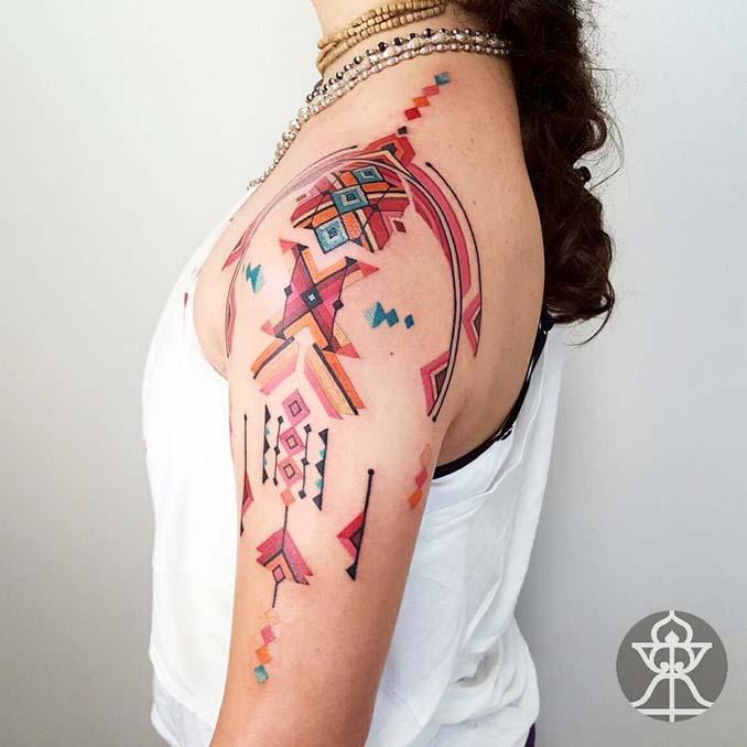 Τατουάζ εμπνευσμένα από την τέχνη των φυλών του Αμαζονίου (14)