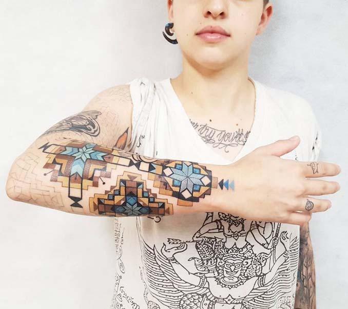 Τατουάζ εμπνευσμένα από την τέχνη των φυλών του Αμαζονίου (15)