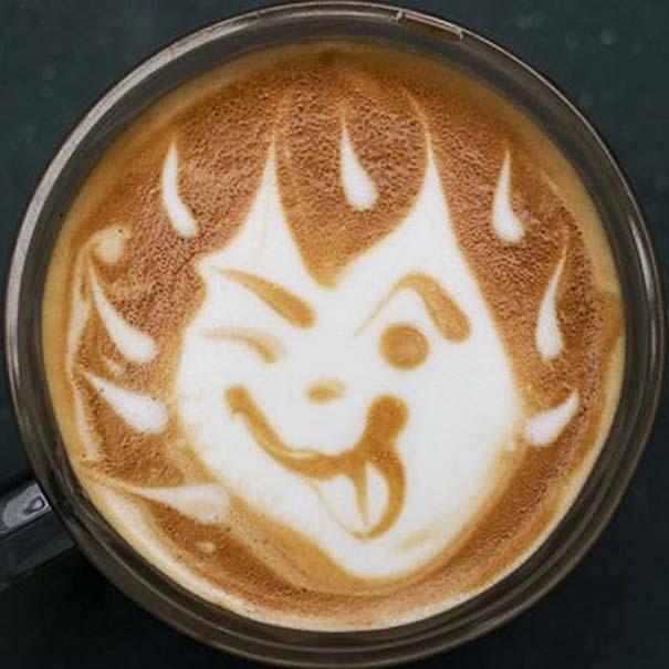 Υπέροχη τέχνη σε καφέ #11 (9)