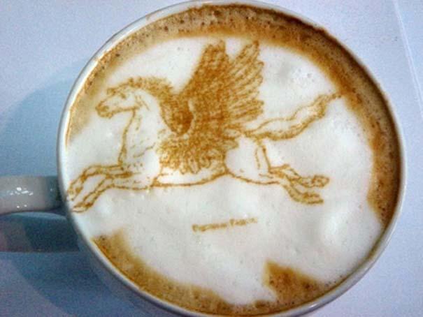 Υπέροχη τέχνη σε καφέ #11 (11)