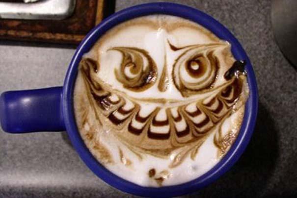 Υπέροχη τέχνη σε καφέ #12 (3)