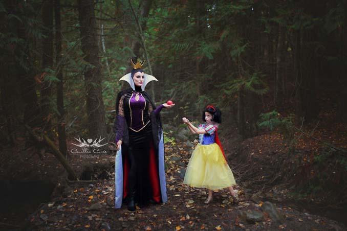 7χρονη με τη μητέρα της μεταμφιέζονται σε χαρακτήρες της Disney (3)