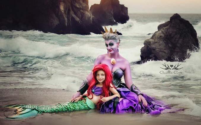 7χρονη με τη μητέρα της μεταμφιέζονται σε χαρακτήρες της Disney (6)