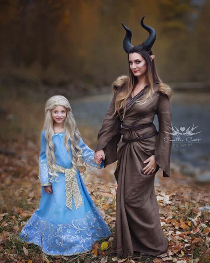7χρονη με τη μητέρα της μεταμφιέζονται σε χαρακτήρες της Disney (13)