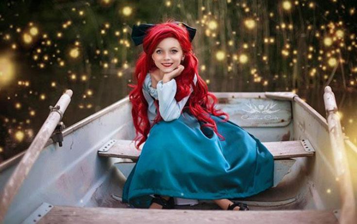 7χρονη με τη μητέρα της μεταμφιέζονται σε χαρακτήρες της Disney (1)