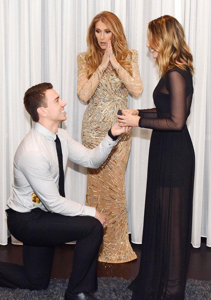 Η Celine Dion κλέβει την παράσταση με τις απίθανες γκριμάτσες της σε πρόταση γάμου (2)