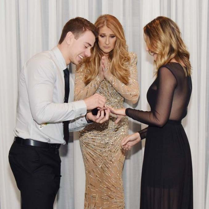 Η Celine Dion κλέβει την παράσταση με τις απίθανες γκριμάτσες της σε πρόταση γάμου (4)