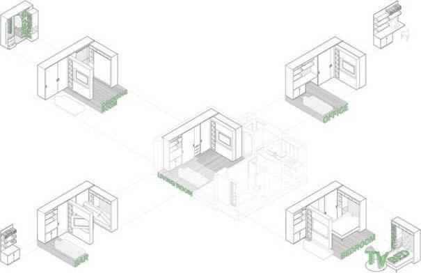 Μικροσκοπικό διαμέρισμα - transformer έχει όλα όσα θα μπορούσατε να χρειαστείτε (18)