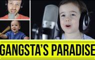 Πατέρας και 4χρονη κόρη τραγουδούν «Gangsta's Paradise» με απίθανο τρόπο