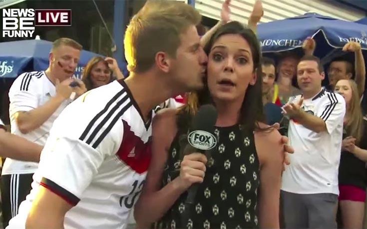 Όταν οι ρεπόρτερ δέχονται αναπάντεχες επιθέσεις με φιλιά