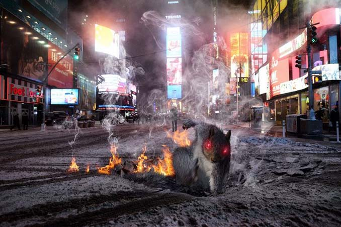 Σκίουρος σε πόζα σούπερ ήρωα έγινε αφορμή για ένα ξεκαρδιστικό Photoshop Battle (5)