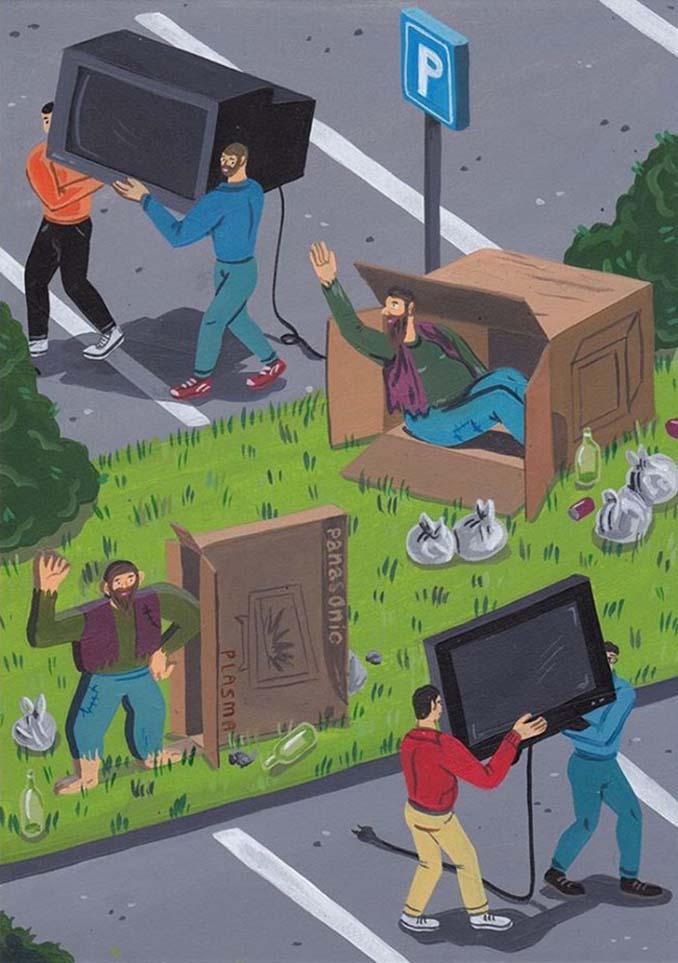 Σκίτσα αποκαλύπτουν τη σκοτεινή πλευρά της σημερινής κοινωνίας (13)