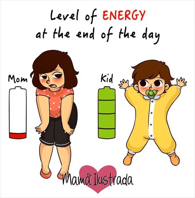 Σκίτσα με ειλικρίνεια δείχνουν πώς είναι να είσαι μαμά (2)