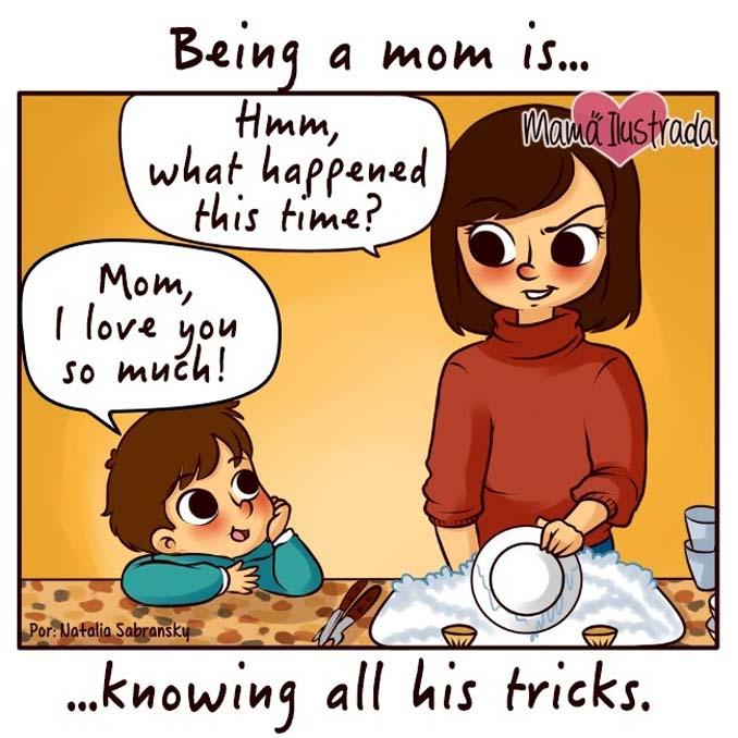 Σκίτσα με ειλικρίνεια δείχνουν πώς είναι να είσαι μαμά (4)