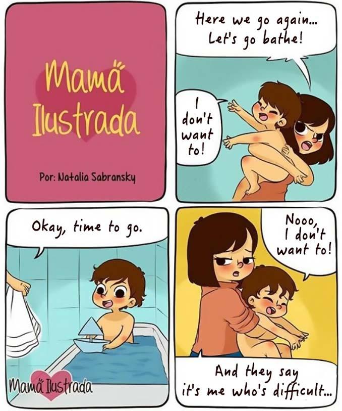 Σκίτσα με ειλικρίνεια δείχνουν πώς είναι να είσαι μαμά (5)