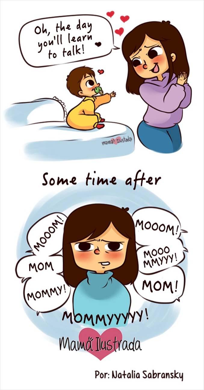Σκίτσα με ειλικρίνεια δείχνουν πώς είναι να είσαι μαμά (12)