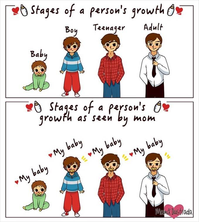 Σκίτσα με ειλικρίνεια δείχνουν πώς είναι να είσαι μαμά (13)