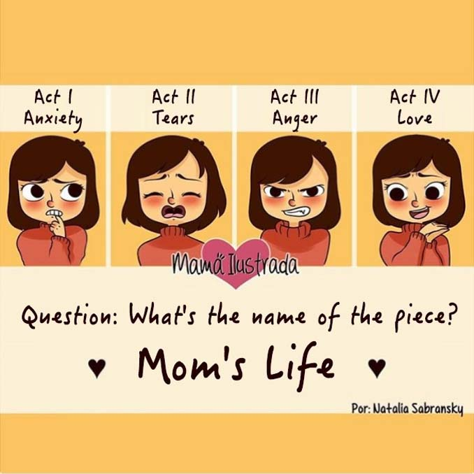 Σκίτσα με ειλικρίνεια δείχνουν πώς είναι να είσαι μαμά (15)