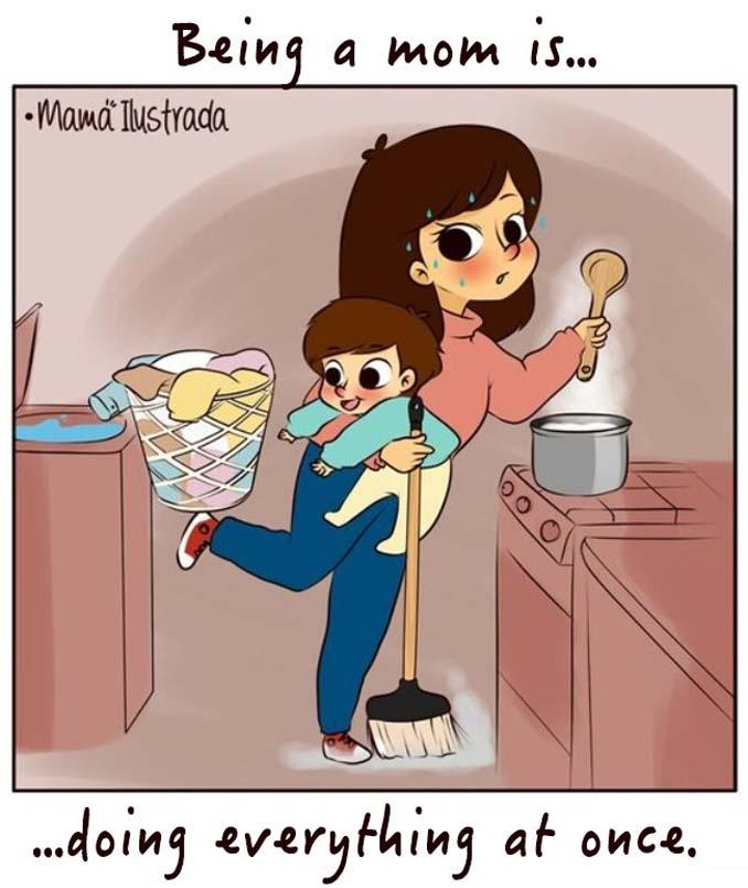 Σκίτσα με ειλικρίνεια δείχνουν πώς είναι να είσαι μαμά (16)