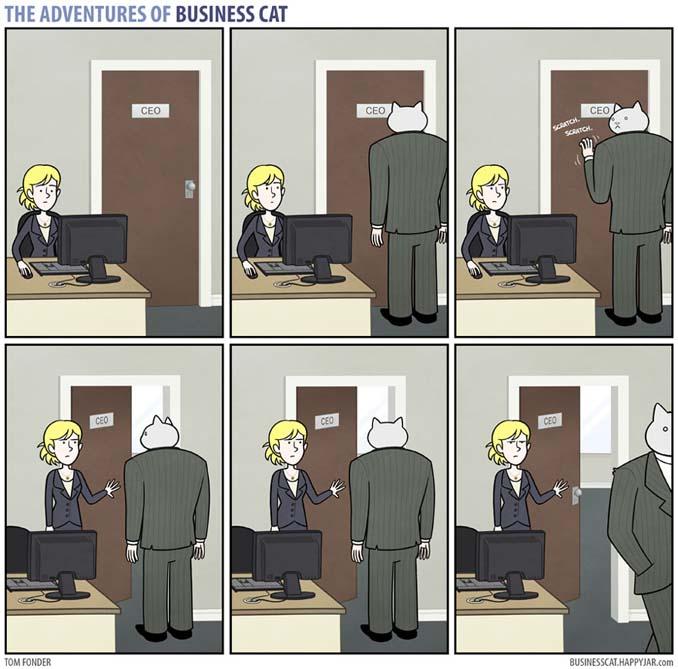 Αν το αφεντικό στο γραφείο ήταν γάτα (1)