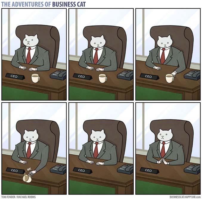 Αν το αφεντικό στο γραφείο ήταν γάτα (2)