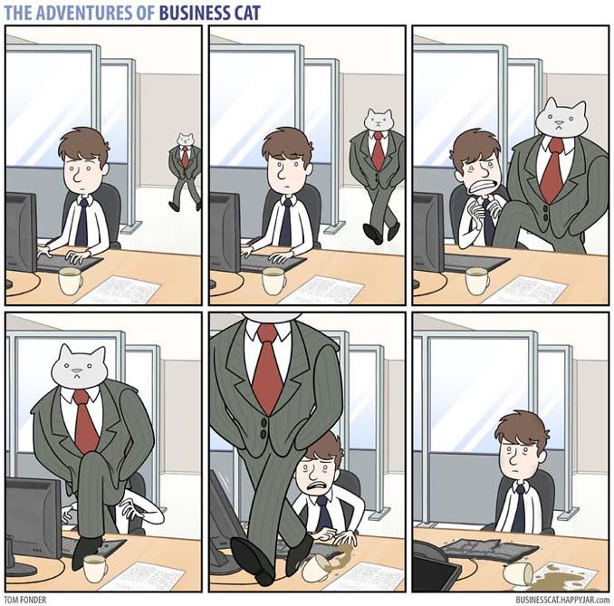 Αν το αφεντικό στο γραφείο ήταν γάτα (4)